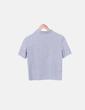 Camiseta corta gris Zara