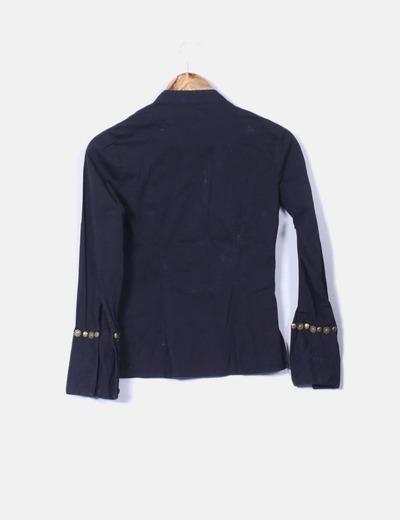 Camisa negra mao con tachas