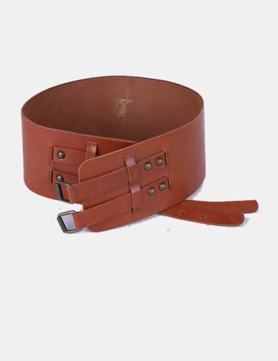 H M Cinturón ancho marrón (descuento 74%) - Micolet a0f0482a3e99
