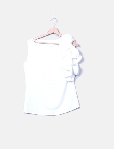 Blusa flor hombro Jiro Modas