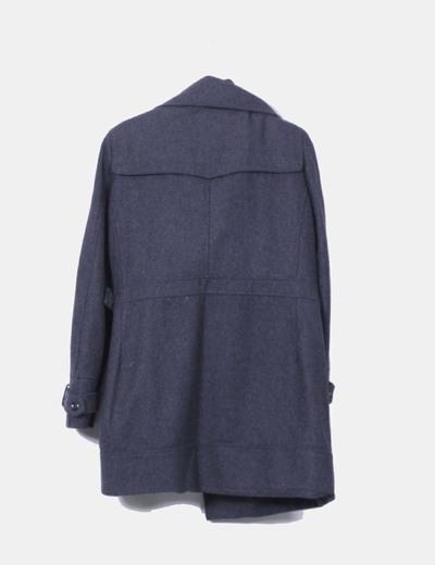 Abrigo de pano gris marengo