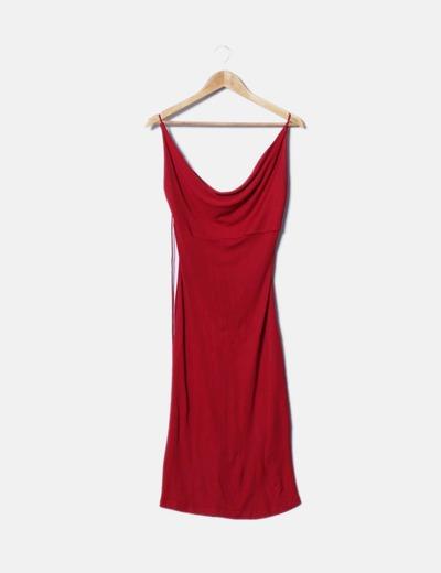 1300c56123 NoName Vestido rojo espalda descubierta (descuento 73%) - Micolet