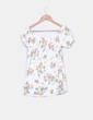 Camiseta floral escote barco NoName