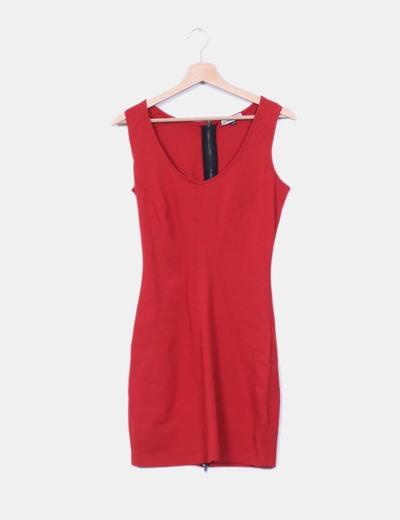 cc2a5bb7b2 Bershka Vestido rojo entallado (descuento 56%) - Micolet