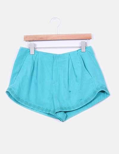 Shorts  fluido turquesa  Zara