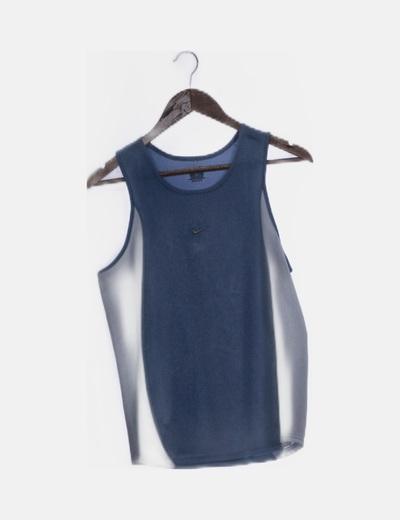 Camiseta combinada azul y blanco