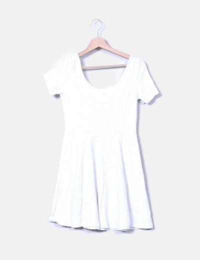 Vestido crudo texturizado H&M