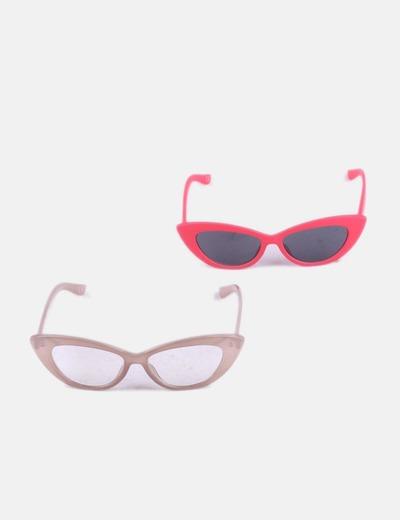 Conjunto gafas cat eye combinadas