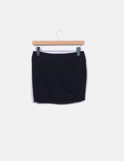 25e6f0133 Minifalda negra lazo