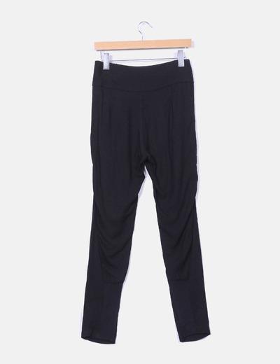 Pantalon baggy negro cremalleras