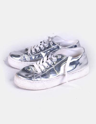 Chaussures argentés plate-forme de Green Coast
