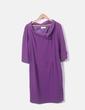 Vestido morado detalle cuello JP Collection