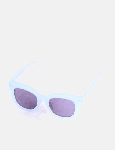 Gafas de sol cuadradas azul claro