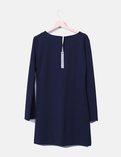 Vestido azul marino lace