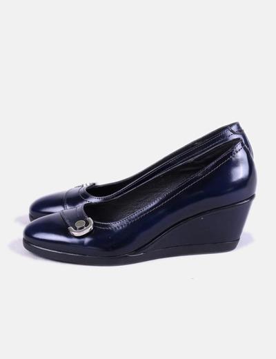Bata Zapato con cuña azul marino (descuento 63%) - Micolet 10d7c9143dd9