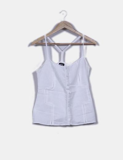 Blusa blanca de tirantes Natura