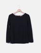 T-shirt noir texturé Camaïeu