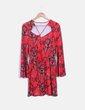Robe rouge imprimé à manches évasées Ivyrevel