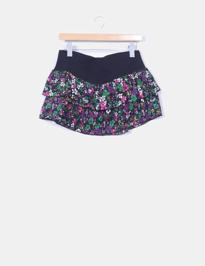 Mini falda volantes floral Modo