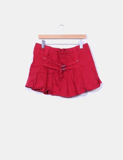 Mini falda roja tablas Pull&Bear