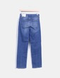 Jeans bleu moyen recadrée en denim Topshop