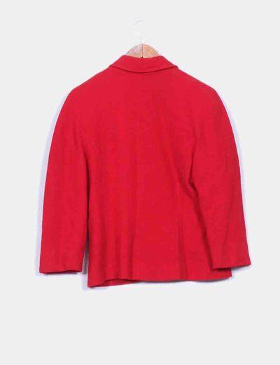 Chaqueta en lana roja con textura