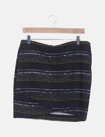 Mini falda ceñida print