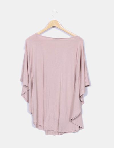 Camiseta fluida rosa nude