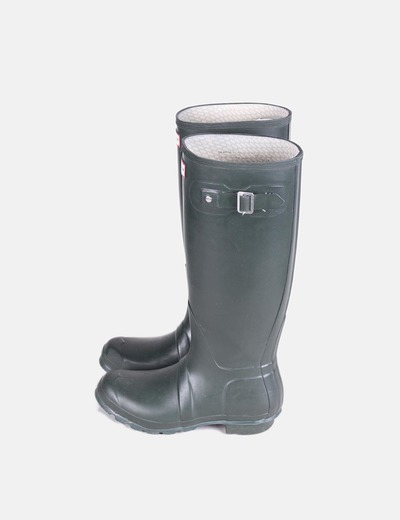 Botas de agua Hunter color caqui
