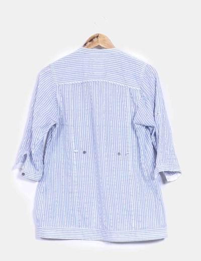 Camisa azul de rayas con lentejuelas