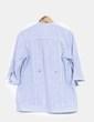 Camisa azul de rayas con lentejuelas Bershka