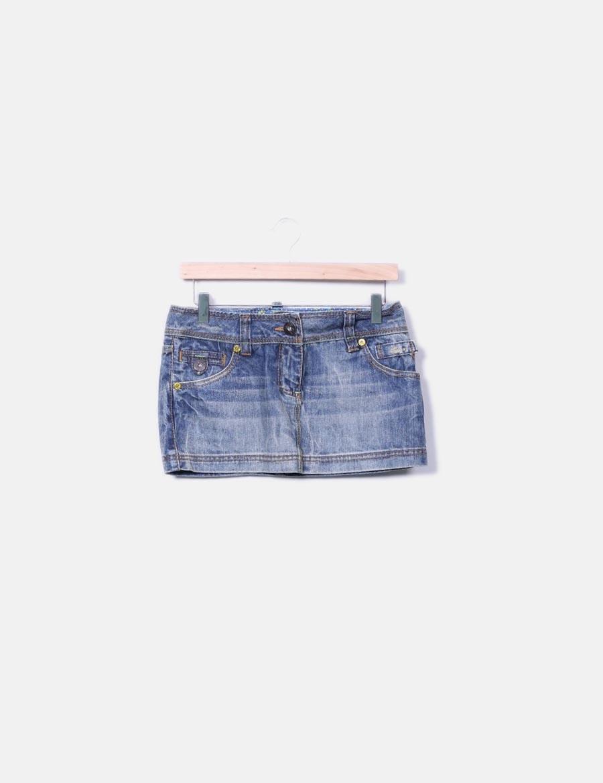 azul Faldas Minifalda online denim Sicko19 baratas 7q7tUx5r at match ... 2bf6cc1c0424