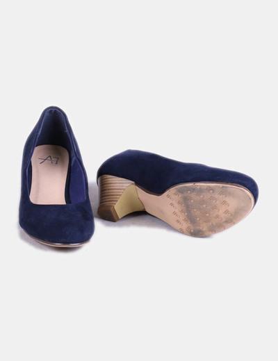 5a3da5611 NoName Zapato de tacón azul marino (descuento 75%) - Micolet