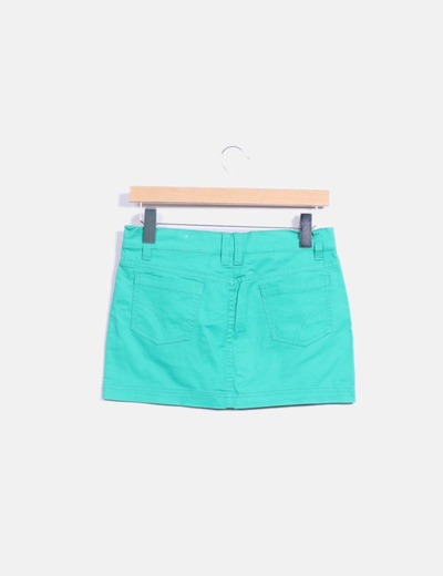 Mini falda verde