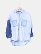 Camisa denim oversize degradado Mango