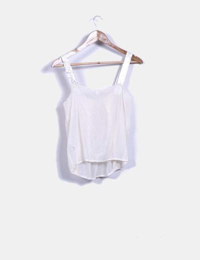 Blusa beige semitransparente