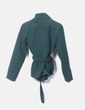 Abrigo verde con doble botonadura NoName