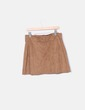 Brown suede skirt with strass Zara