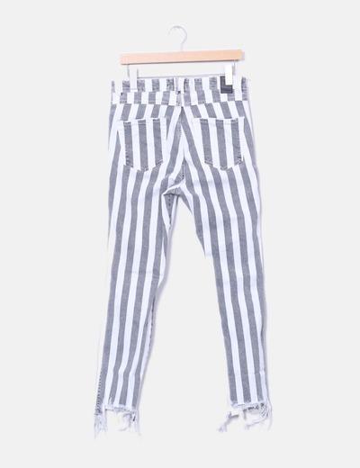 pantalones de rayas de zara