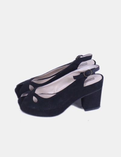 Zapatos destalonados negros Pull & Bear