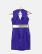 Robe bleue avec ceinture en or H&M