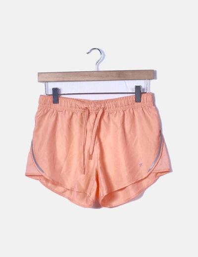 Short deportivo naranja flúor