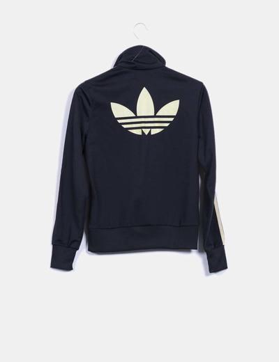 12f0c9fe36f13 Adidas Sudadera negra Adidas dorado (descuento 77%) - Micolet