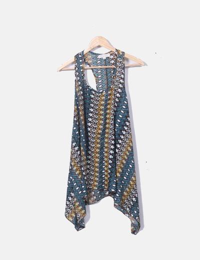 Blusa com alças estampadas Lara Ethnics