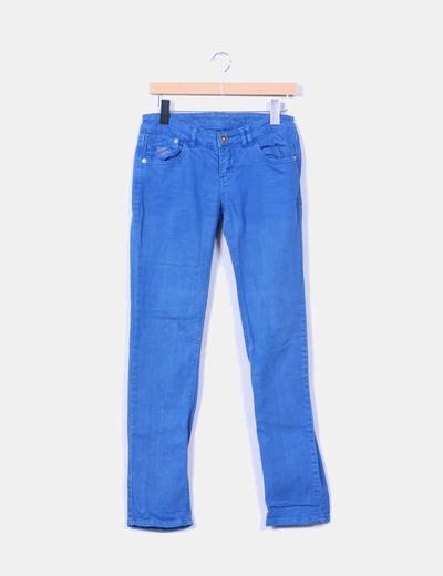 Pantalón azul efecto vaquero Suiteblanco