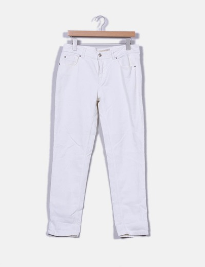 Pantalón blanco de pana Zara