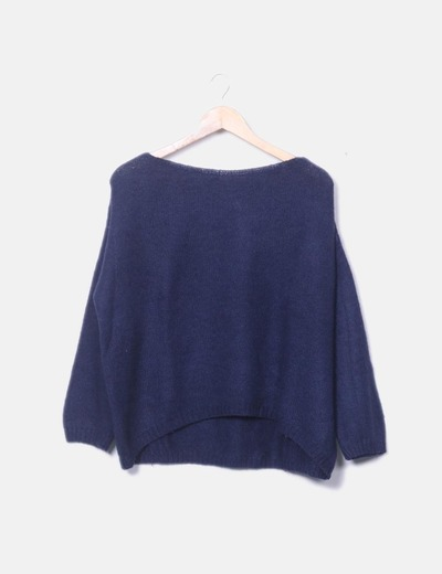 Navy knit sweater renatta &go