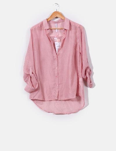 comprar el más nuevo mejor sitio salida online Camisa rosa print triángulos burdeos