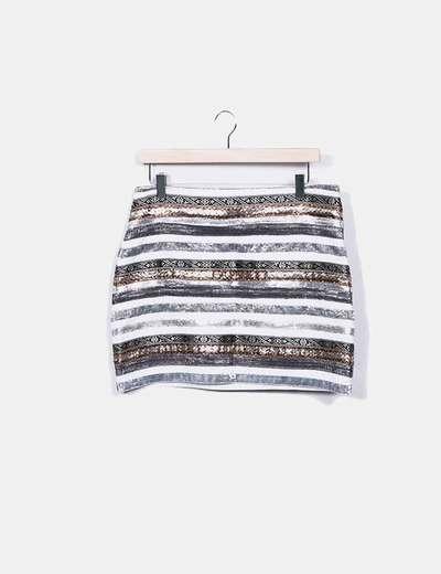 Mini-jupe texturé Vero Moda