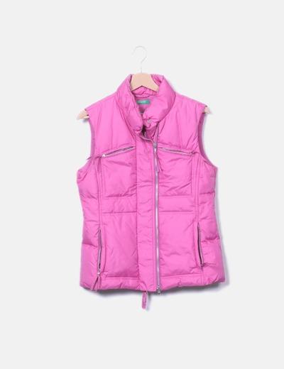Chaleco acolchado rosa